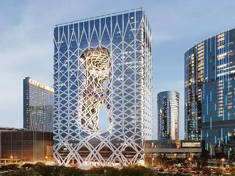 طراحی معماری هتل مورفئوس زاها حدید